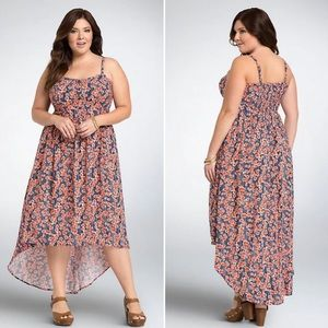 Torrid Poppy Print High Low Maxi Dress